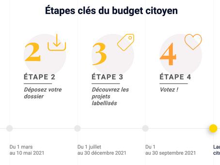 Budget citoyen : appel à projets jusqu'au 29 avril