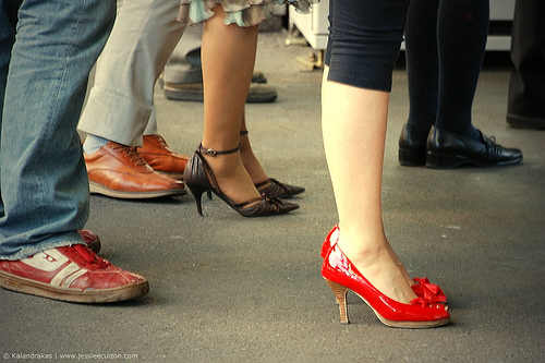 pieds danse en ligne