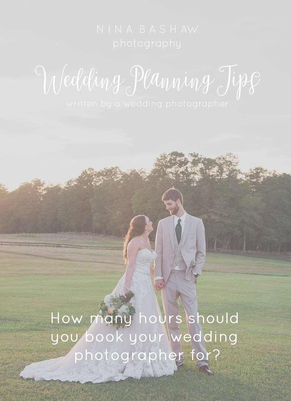 Wedding Planning Tips | How long to book your wedding photographer for.