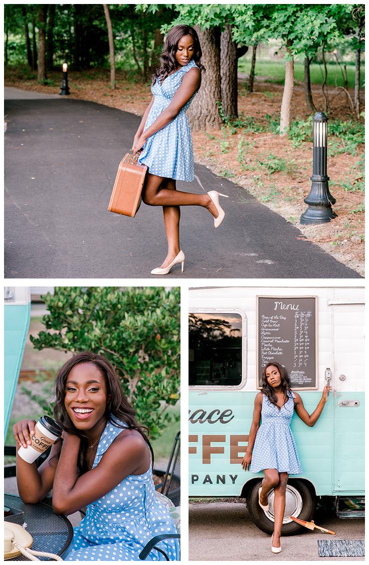 Charlotte senior photographer Nina Bashaw | Styled senior session | Senior girl poses | Columbia senior portrait photographer