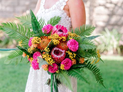 Tropical bridal session