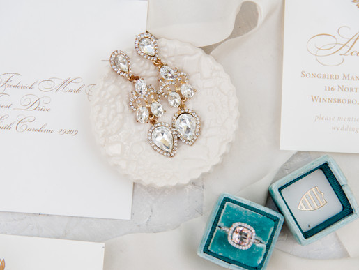 Flat lay styling props for wedding photographers.