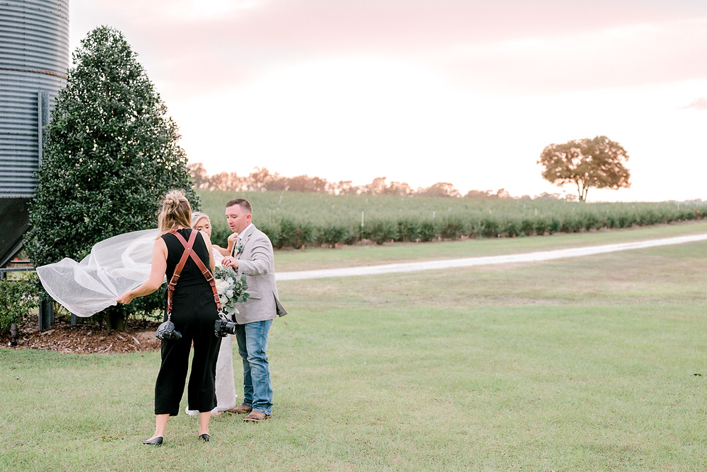 wedding at Red White and Blue Farm