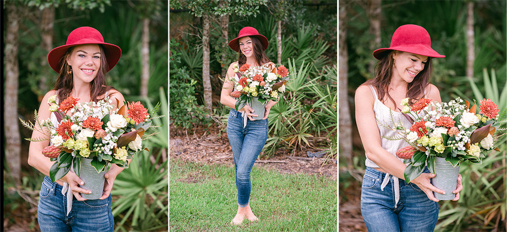 Sarasota personal branding photographer Nina Bashaw shares photos from a headshot session with a florist.