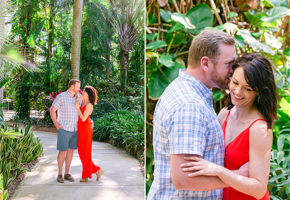 Engagement session at Sunken Gardens in St Pete