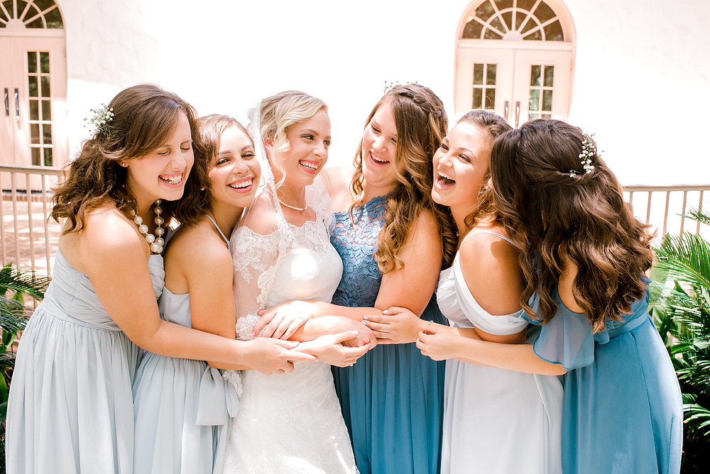 Columbia, SC wedding photographers Nina Bashaw | Wedding planning tips | Why have a second shooter at your wedding | Shades of blue bridesmaids dresses | Bridesmaids photos