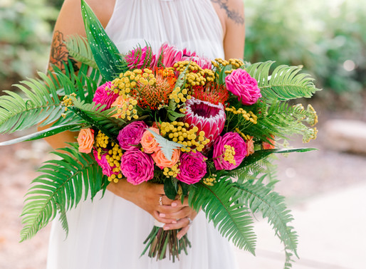 Marquise and Allison's tropical elopement