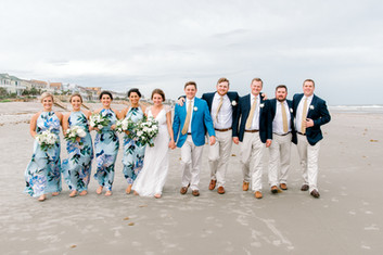 Bridal party photos on the beach in St Petersburg