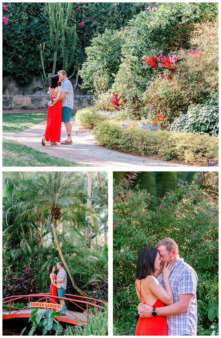 photo session at Sunken Gardens