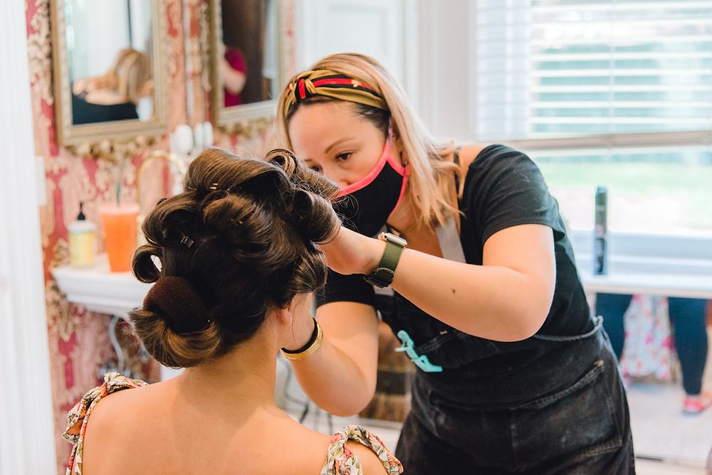 Tampa hair and makeup artist Femme Akoi. St. Pete photographer Nina Bashaw