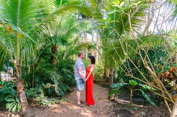 Engagement photos at Sunken Gardens