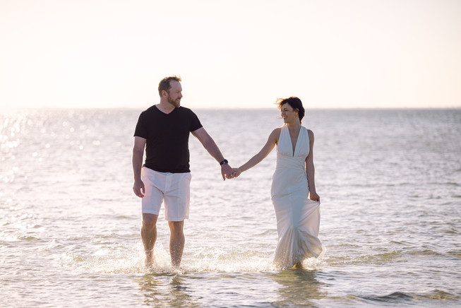 Tampa beach engagement photo session