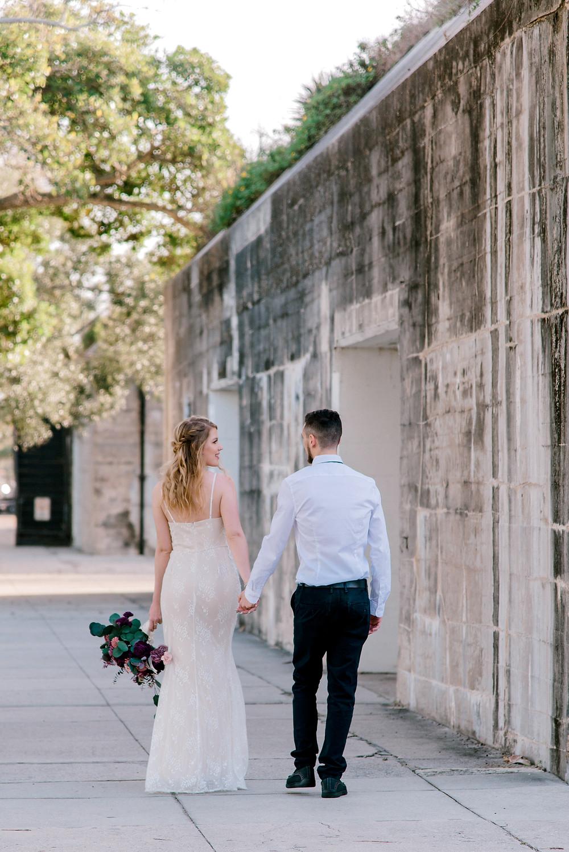 Wedding photos at Fort De Soto