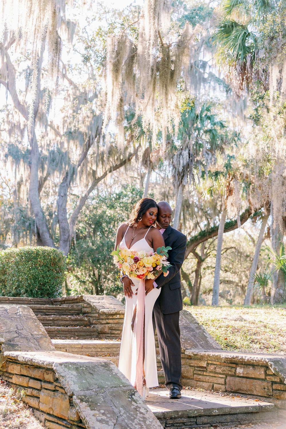 Elopement photos at Philippe Park in Safety Harbor