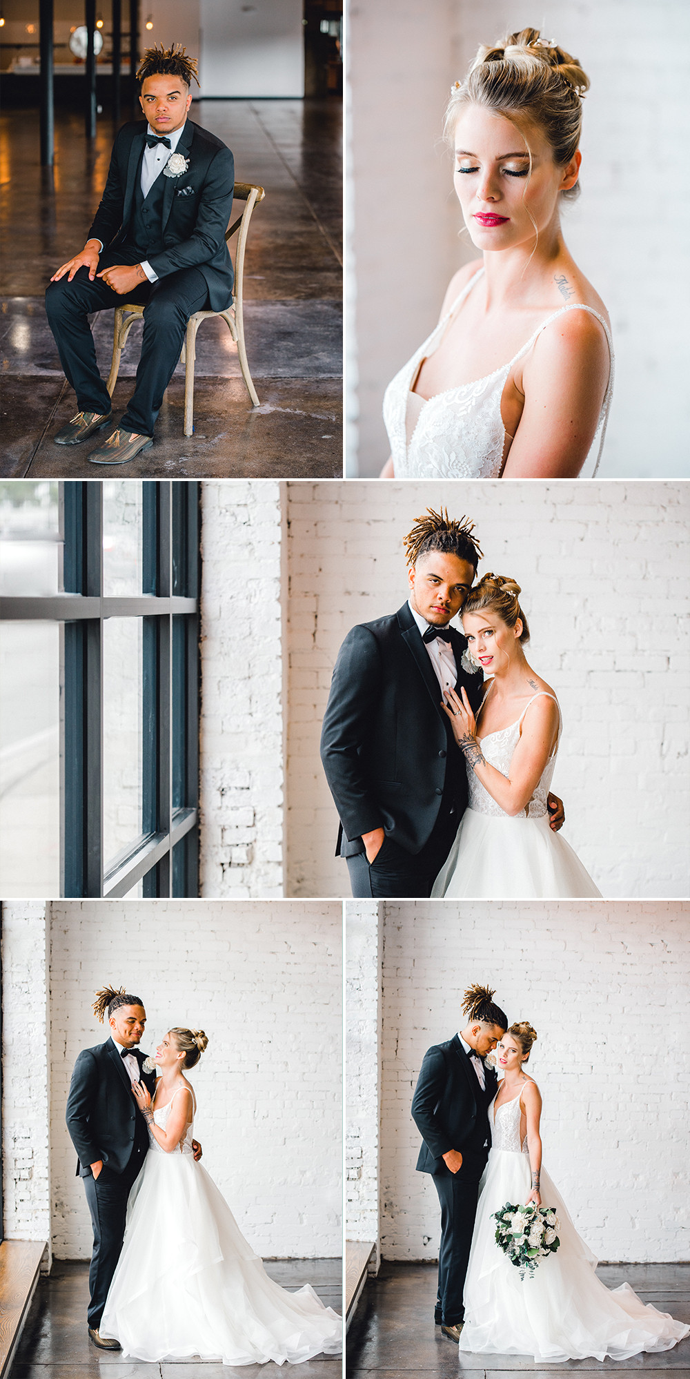 Fine art film photographer Nina Bashaw photographs a wedding at Haus 820