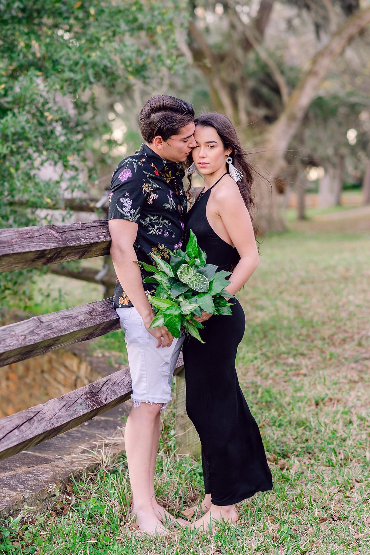 Engagement photos taken at Philippe Park by Tampa Bay photographer Nina Bashaw