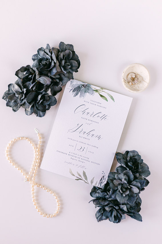 Elli Wedding invitation sample - Sarasota wedding photographer Nina Bashaw