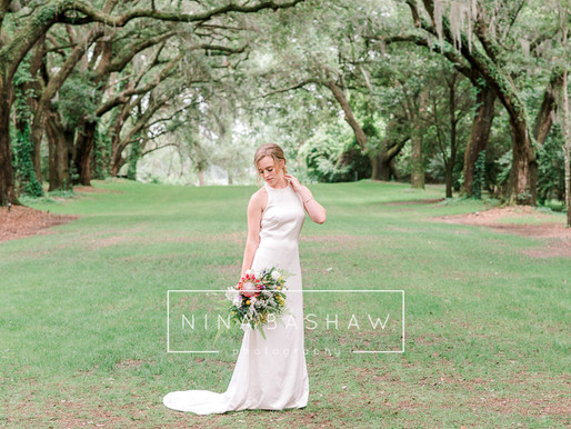 Bridal Session at Legare Waring house in Charleston, SC