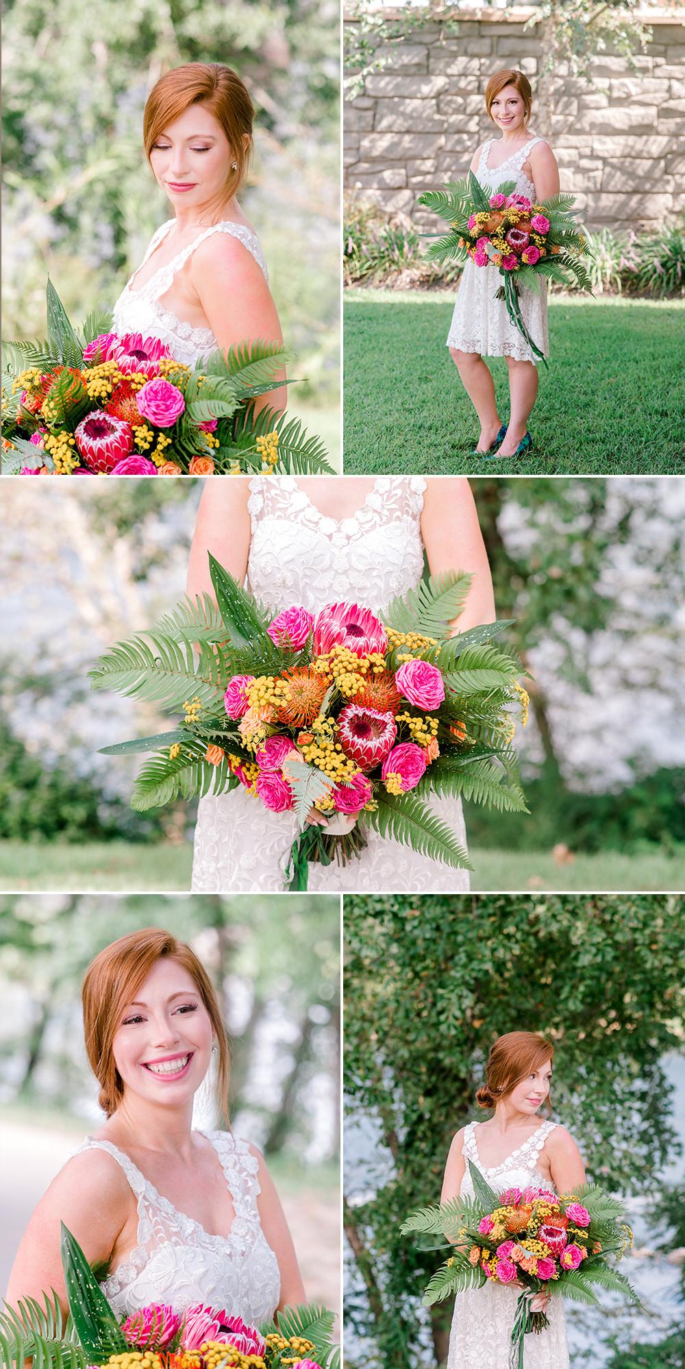 Sarasota wedding photographers. Tropical wedding bouquet