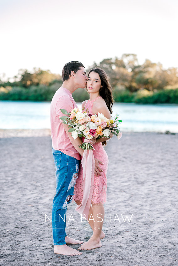 Engagement photos at Philippe Park shot by Nina Bashaw
