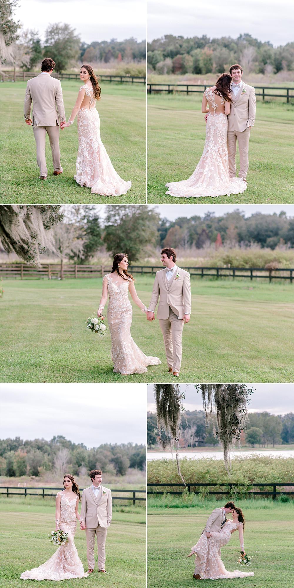 Tampa wedding photographer Nina Bashaw shares photos from a wedding at Covington Farms in Dade City, FL
