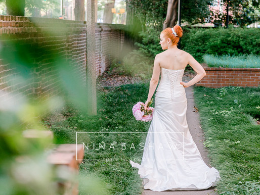 Bridal session at the Horseshoe in Columbia, SC