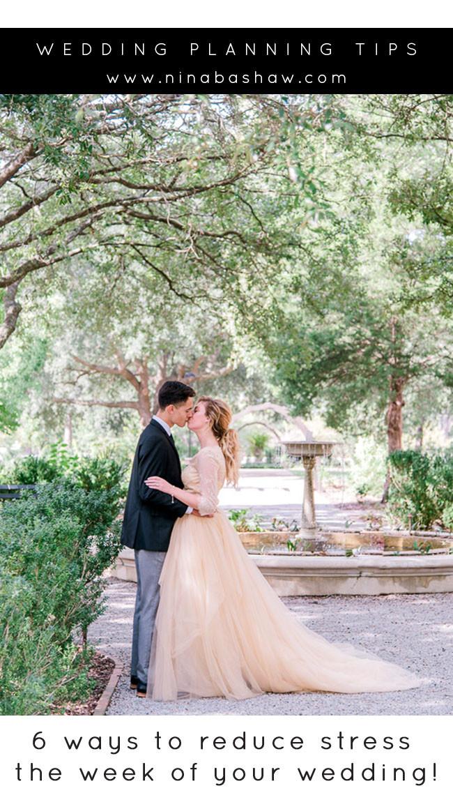 6 ways to reduce stress before your wedding. Charlotte photographer Nina Bashaw. Wedding at the Hampton Preston Mansion in Columbia, SC.