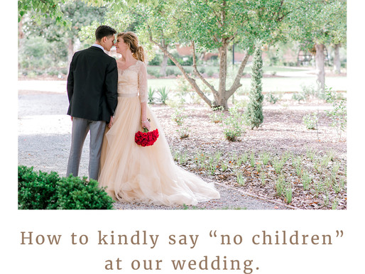 """How to kindly say """"no kids"""" at your wedding"""