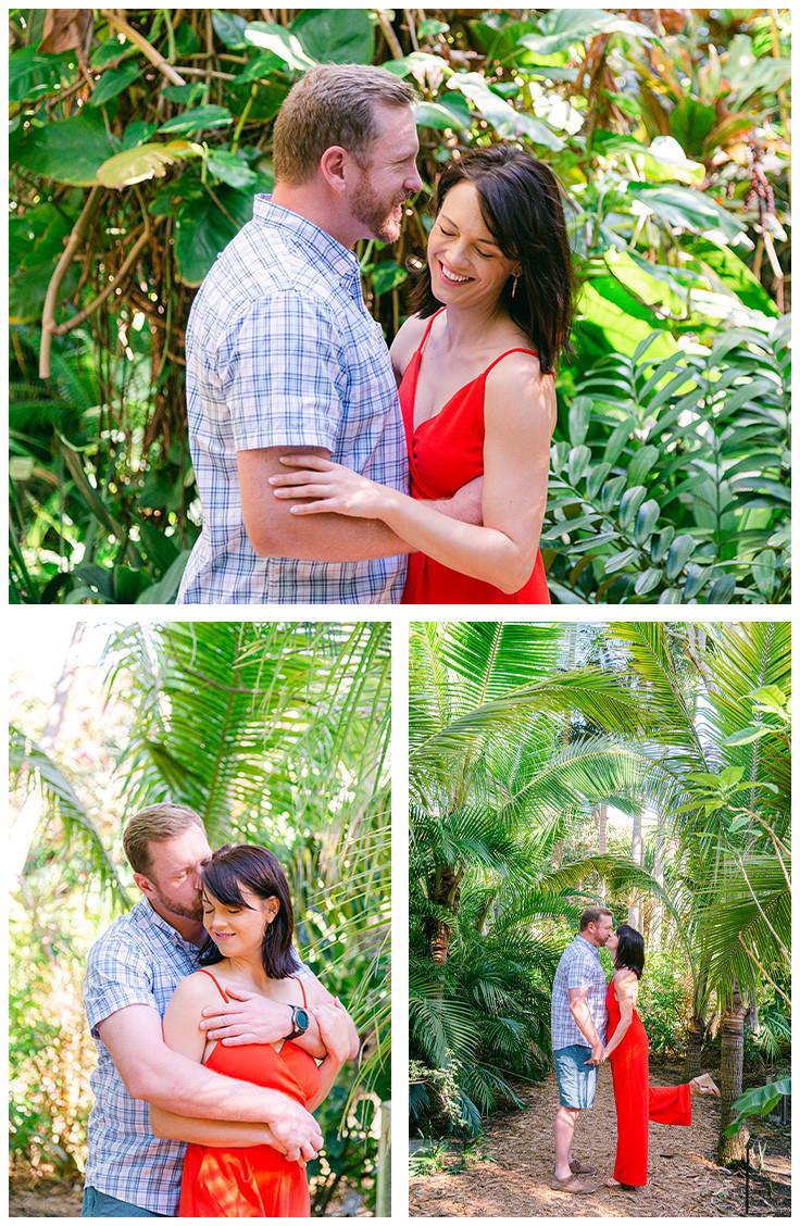 Engagement photos at Sunken Gardens by Nina Bashaw