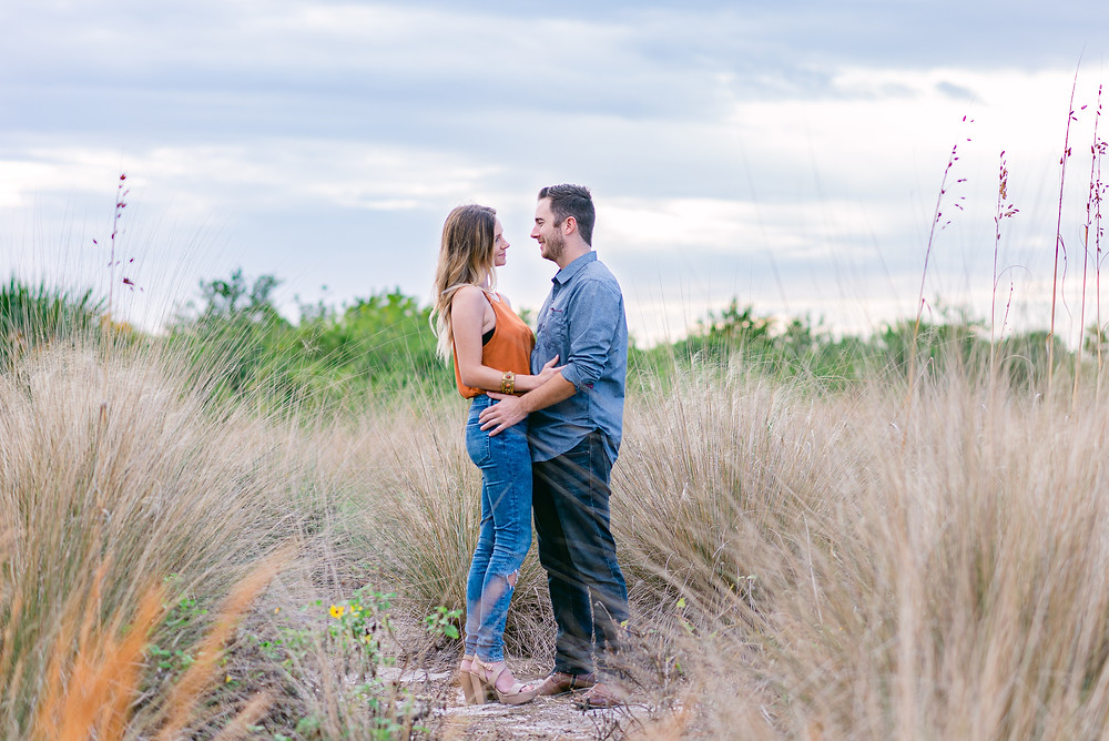 Engagement session at Cypress Point Park in Tampa