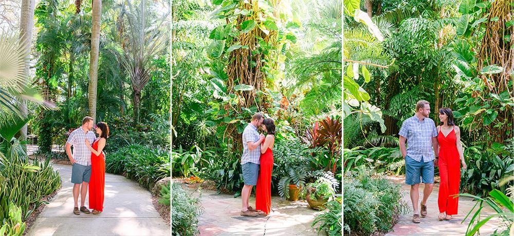 Engagement session at Sunken Gardens