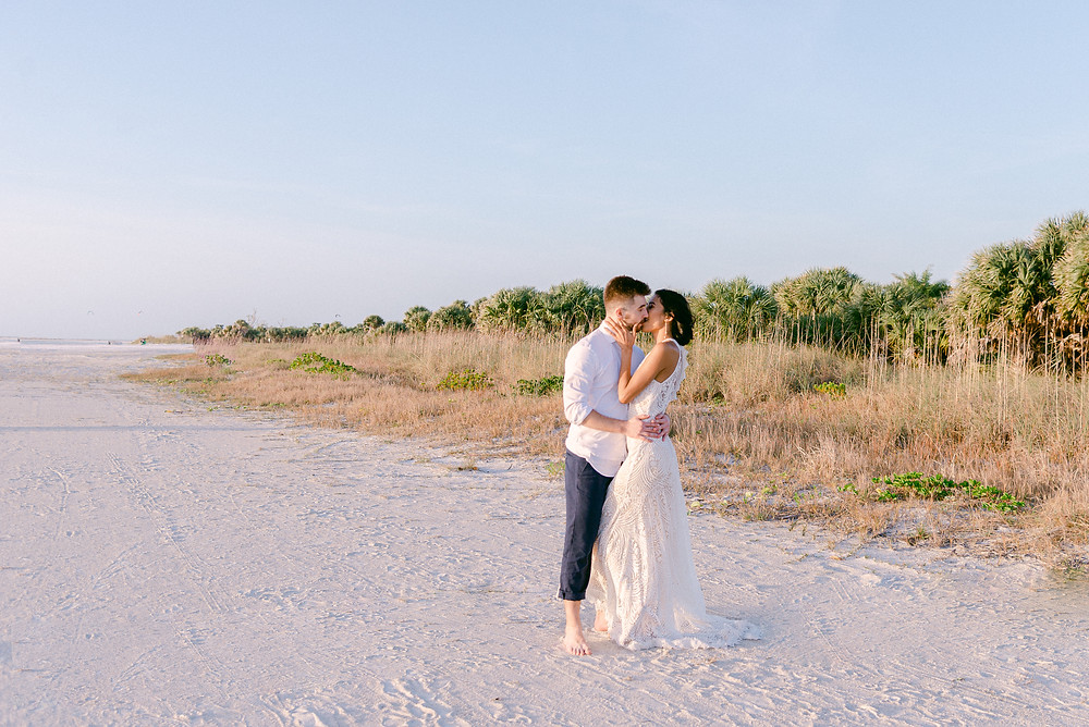Tampa beach wedding
