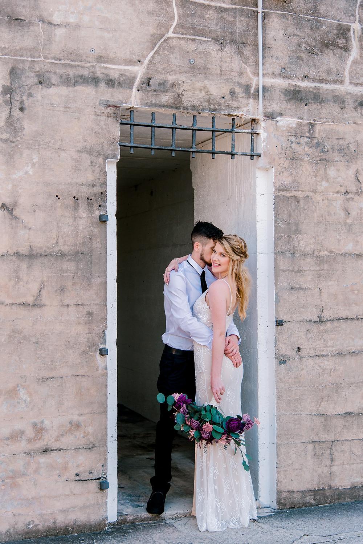 wedding pictures at Fort De Soto beach in St Petersburg, Florida