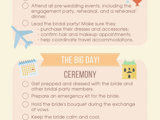 Duties of a being a bridesmaid