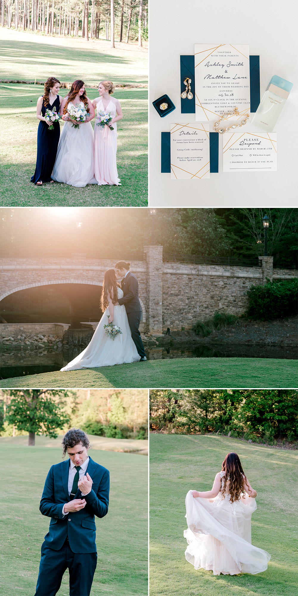 Wedding at Cobblestone Park Golf and Country Club | Nina Bashaw is a fine art engagement photographer serving Columbia, Charleston, Greenville, Charlotte, NC Augusta, Ga, Nashville, TN surrounding areas and worldwide destination weddings and elopements.
