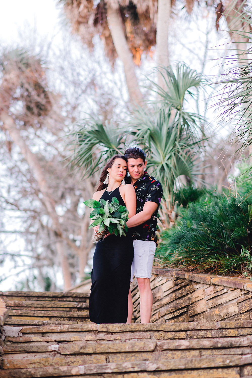 Couples photos taken at Philippe Park in Safety Harbor, Florida by photographer Nina Bashaw