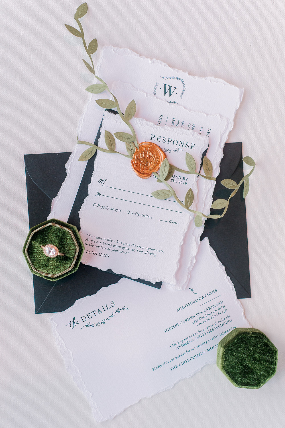 Where to order your wedding invitations from and how to get free samples!  Tampa wedding photographer Nina Bashaw
