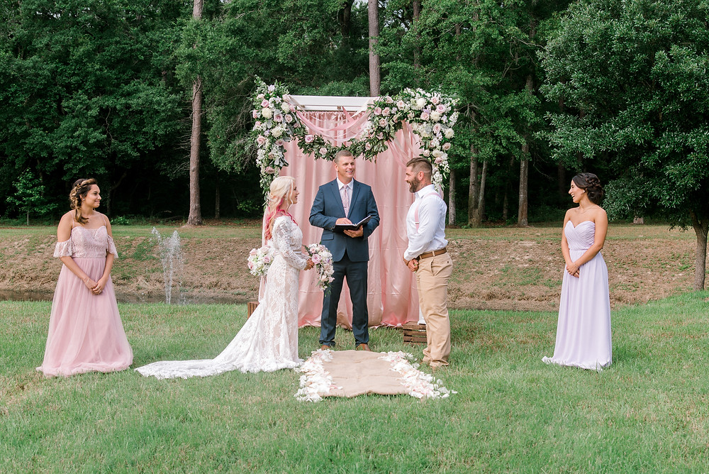 Wedding at Dogwood Downs in Ravenel, SC | Kasey King wedding officiant