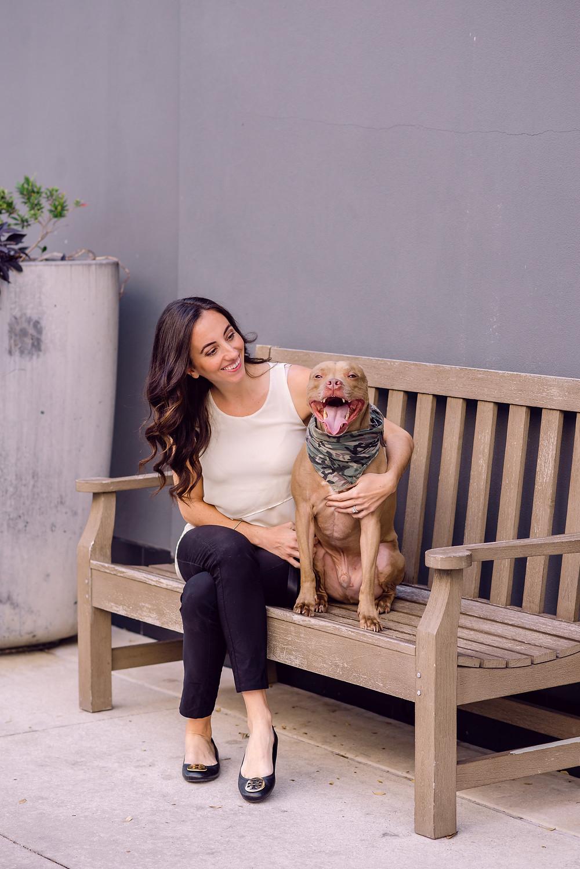 Headshots for Furry Ventures Pet Care by natural light headshot photographer Nina Bashaw