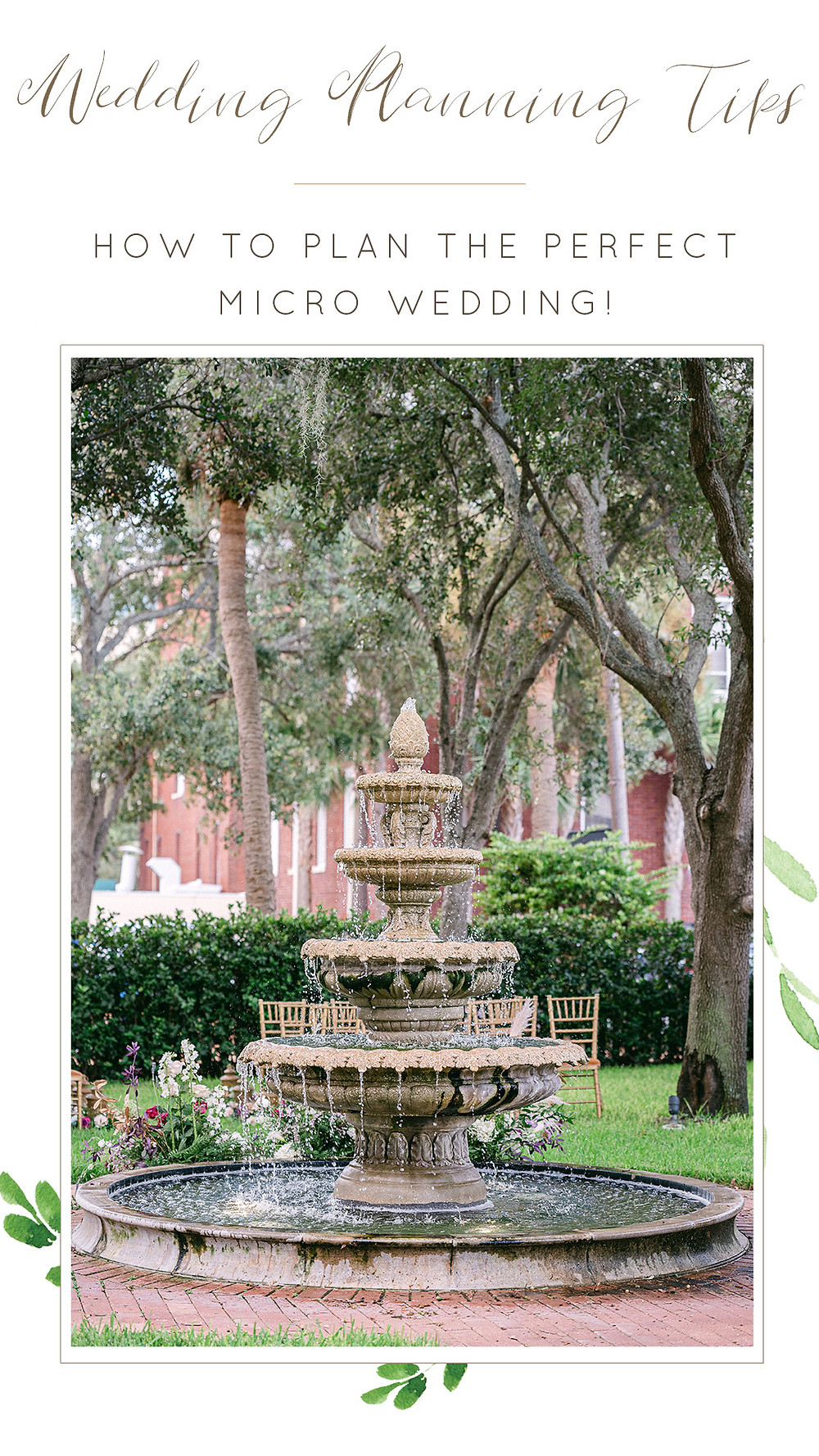 Micro wedding planning tips. St. Pete wedding photographer Nina Bashaw
