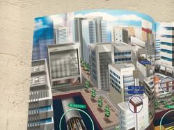 街の鳥瞰イラスト