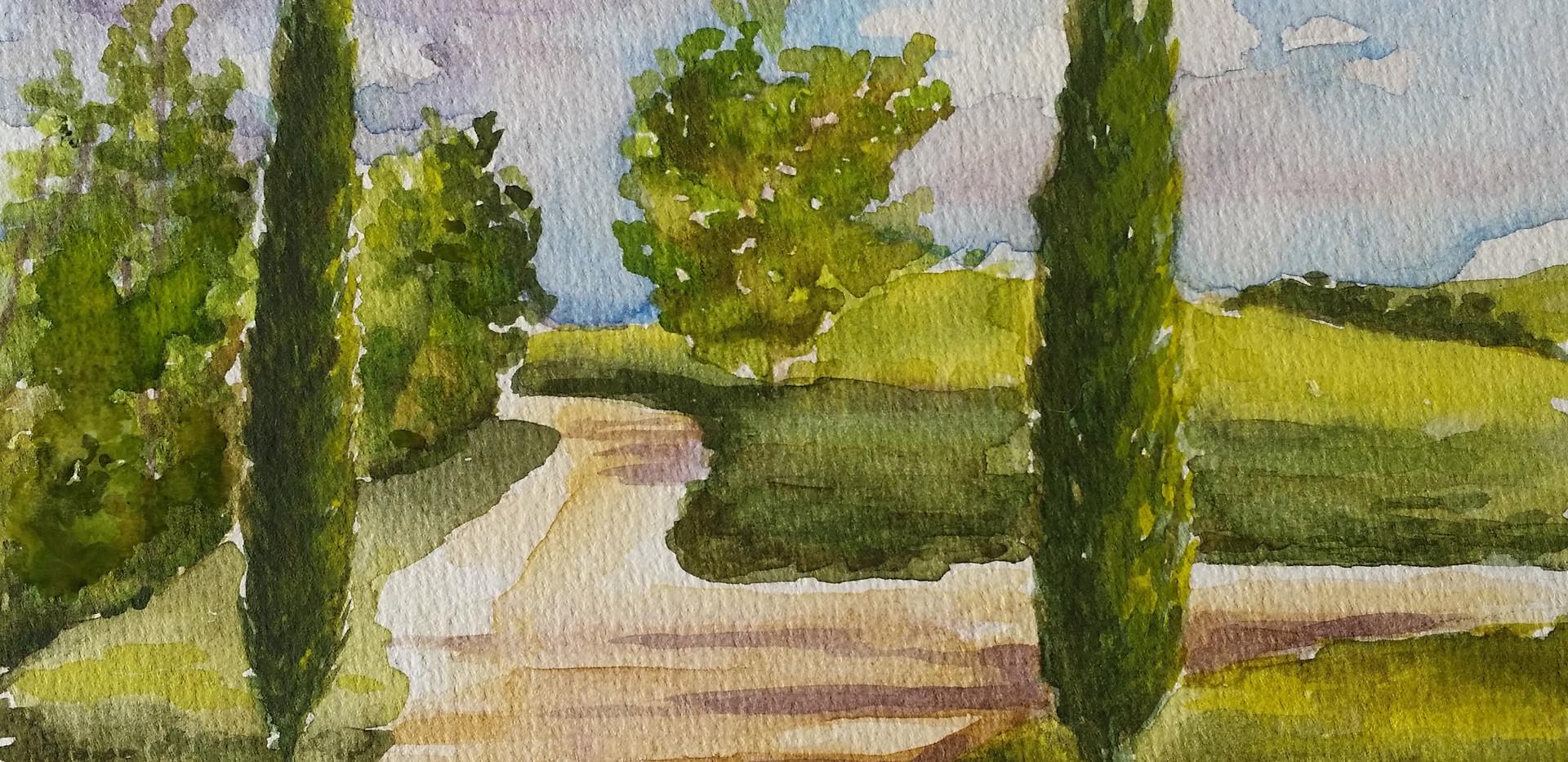 Tuscany watercolour