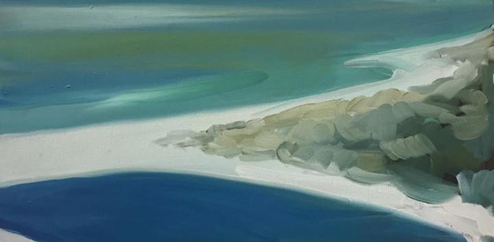 Peppi Beach- Ocean_30x30cm Oli on Canvas