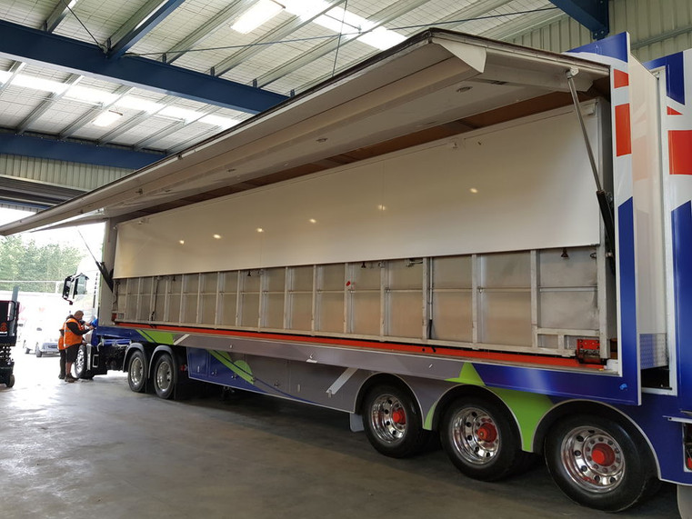 Re-wrapping the trailer inside and out