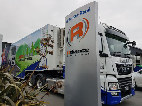 Reliance repainting the trailer white