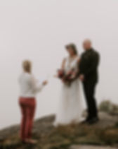 Private Ceremony At Black Balsam Knob