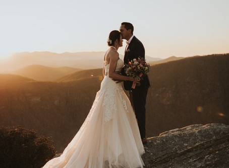 A breathtaking elopement in Linville, NC that will make you rethink having a wedding!