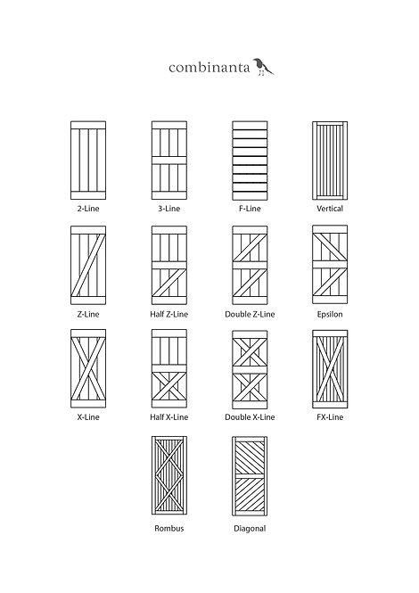 Варианты амбарных дверей