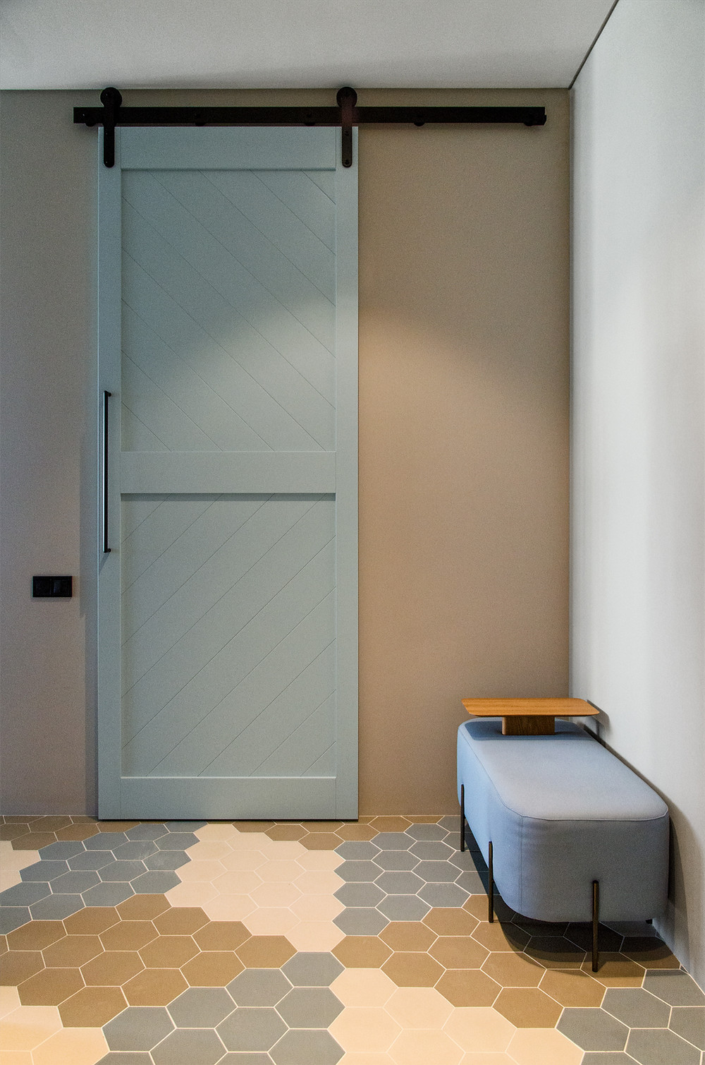 Амбарные двери с механизмом Monorolla