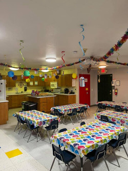 Our very festive kitchen!